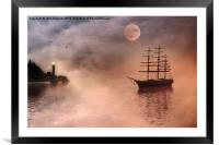 Evening Mists, Framed Mounted Print