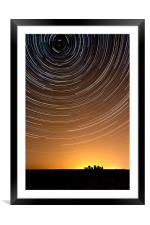 Stonehenge Startrails 1, Framed Mounted Print