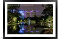 Reflections of Marina Bay Sands, Framed Mounted Print