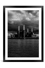 Battersea Power Station, Framed Mounted Print