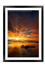 Sunrise over Bass Rock, Framed Mounted Print