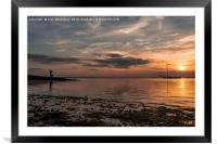 Sunset going down, Framed Mounted Print