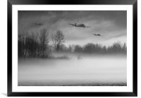 Safely home in B&W , Framed Mounted Print