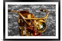 Old Motorcycle , Framed Mounted Print