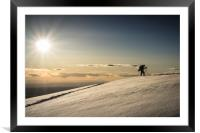 Back Country Skiing in the La Sal  Mountains, Utah, Framed Mounted Print