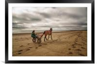 Horse and Cart, Framed Mounted Print
