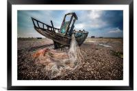 Moody Boat, Framed Mounted Print