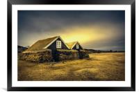Old Huts, Framed Mounted Print