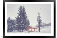 Peaceful Snowy Day, Framed Mounted Print