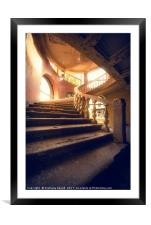 Spiral Stair , Framed Mounted Print