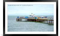 Pretty Llandudno Pier, Framed Mounted Print