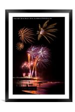 Worthing Beach Fireworks November 2016, Framed Mounted Print
