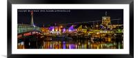 Shoreham Harbour at Night, Framed Mounted Print