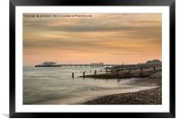 Worthing Pier Evening, Framed Mounted Print