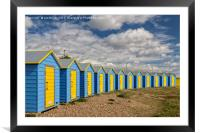 Littlehampton Beach Huts, Framed Mounted Print