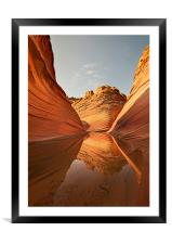 The Wave, Arizona, Framed Mounted Print
