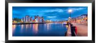 Night in the City..........., Framed Mounted Print