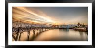 Boardwalk at the Marina Rubicon, Framed Mounted Print