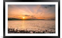 Budle Bay Nature Reserve Sunset, Framed Mounted Print