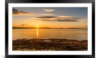 Photo's of Northumberland - Budle Bay Sunset, Framed Mounted Print