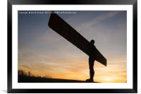 The Angel of the North, Gateshead - Sunset, Framed Mounted Print