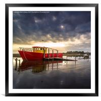 Red and grey., Framed Mounted Print