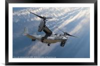 Bell Boeing Osprey V-22 helicopter close up view f, Framed Mounted Print