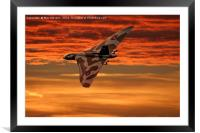 Vulcan into the sunset, Framed Mounted Print