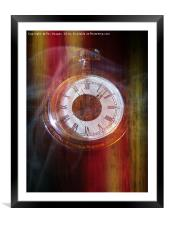 Gold fob watch, Framed Mounted Print