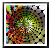Tunnel of Colours, Framed Mounted Print