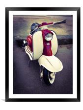 Italian scooter, Framed Mounted Print