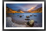 Wasdale sunset, Framed Mounted Print