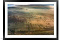 Long Shadows at Sunrise, Hope Valley, Derbyshire, Framed Mounted Print