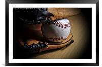 Baseball Season , Framed Mounted Print