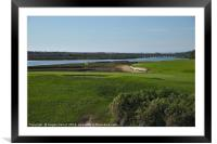 Golf course and Ria Formosa in Quinta do Lago, Framed Mounted Print
