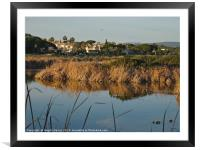 End of the day in Quinta do Lago, Framed Mounted Print