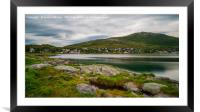 Ersfjord and Ersfjordbotn village,Troms County in , Framed Mounted Print