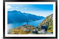 On top of the world, Framed Mounted Print