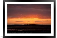 Hilbre Island Afterglow , Framed Mounted Print