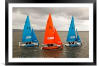 Synchronised Sailing, Framed Mounted Print