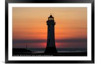 Perch Rock Lighthouse , Framed Mounted Print
