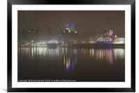 Misty Liverpool Waterfront, Framed Mounted Print