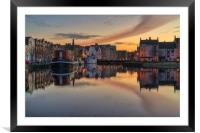 The Shore at Sunset, Framed Mounted Print