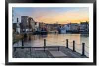 Pastel coliurs at the Shore, Leith, Framed Mounted Print