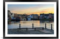 Pastel coliurs at the Shore in Leith, Edinburgh, Framed Mounted Print