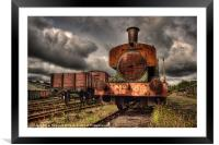 No 6 at Tanfield Railway, Framed Mounted Print