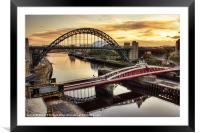 Early Morning in Newcastle, Framed Mounted Print