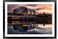 The Sage in Gateshead, Framed Mounted Print