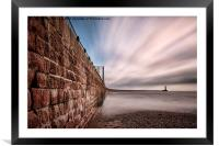 Roker Pier at Sunderland, Framed Mounted Print