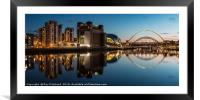 View of the Gateshead Riverside, Framed Mounted Print